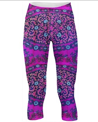 Image of African Violet Chic Fit Capri