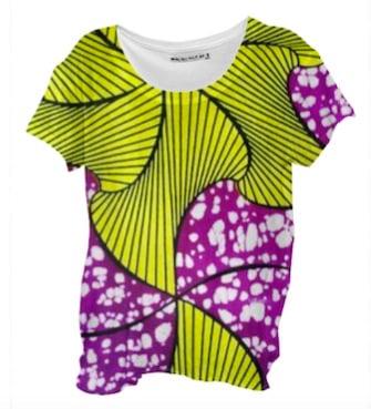 Image of African Violet Drape Shirt