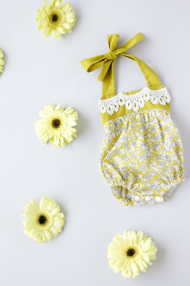 Image of the BOHO BABY ROMPER pattern