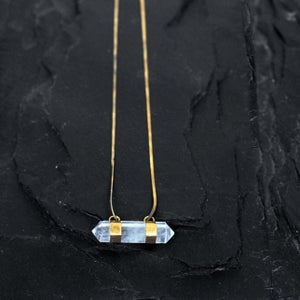 Image of Horisontal crystal necklace