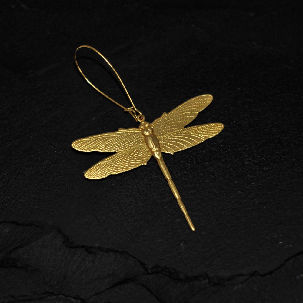 Image of Dragonfly earring in brass