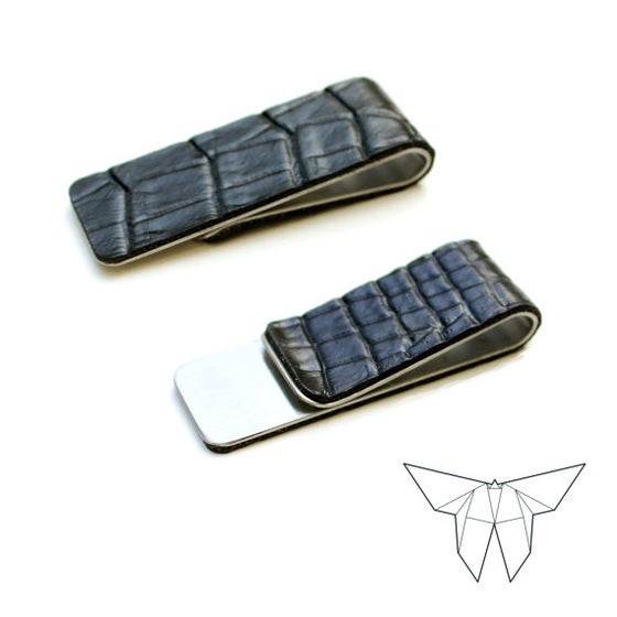 Image of ZOE Croc Skin Money Clip 'SLIM' Edition: Free US Shipping