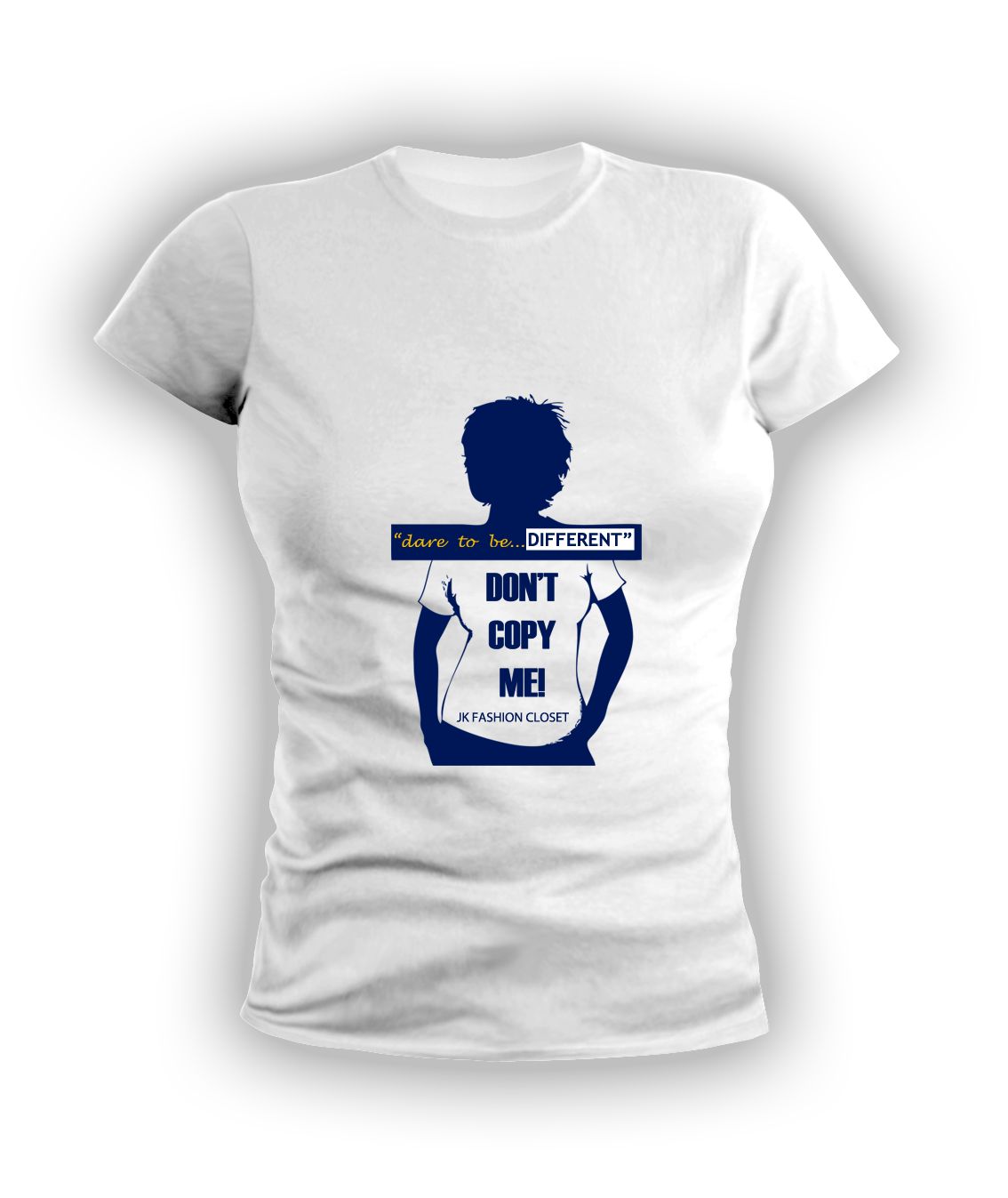 Image of Ladies Dare To Be Different / Navy Blue & White