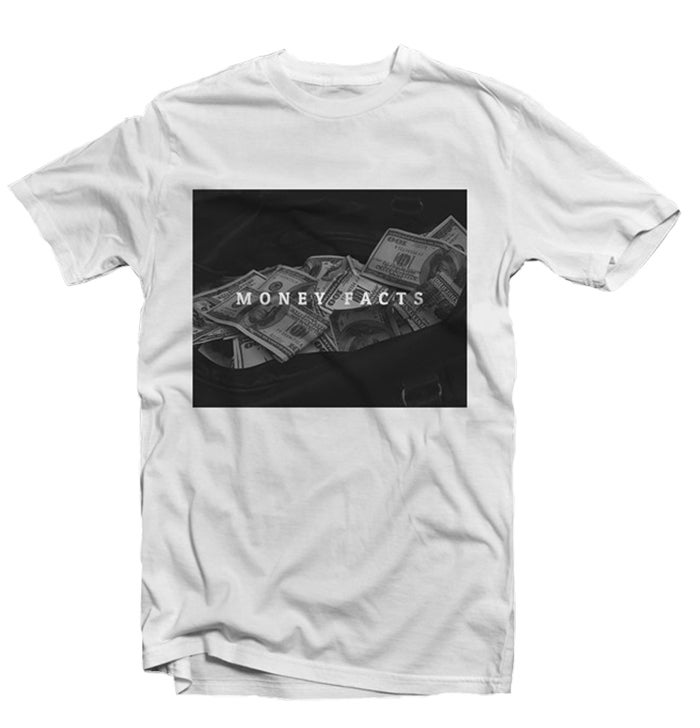 Image of MONEY FACTS TEE - WHITE