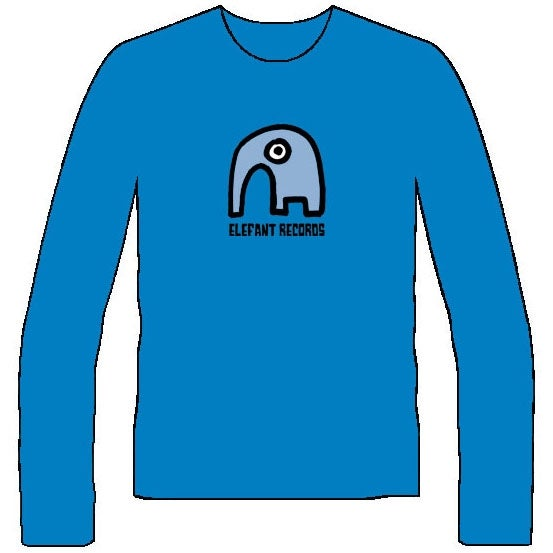Image of ELEFANT LONG-SLEEVED T-SHIRTS: BLUE (Various sizes)