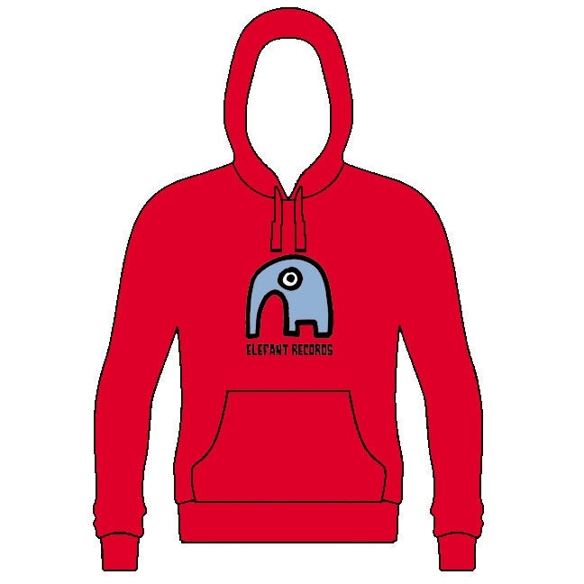 Image of ELEFANT HOODIE: RED (Various Sizes)