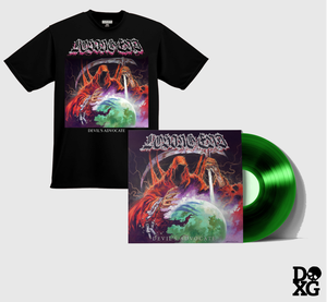Image of LOSING END devil's advocate EP GREEN Vinyl + T-Shirt Bundle (BOTH DXG Exclusives)