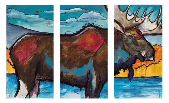 Image of North Park Moose Triptych