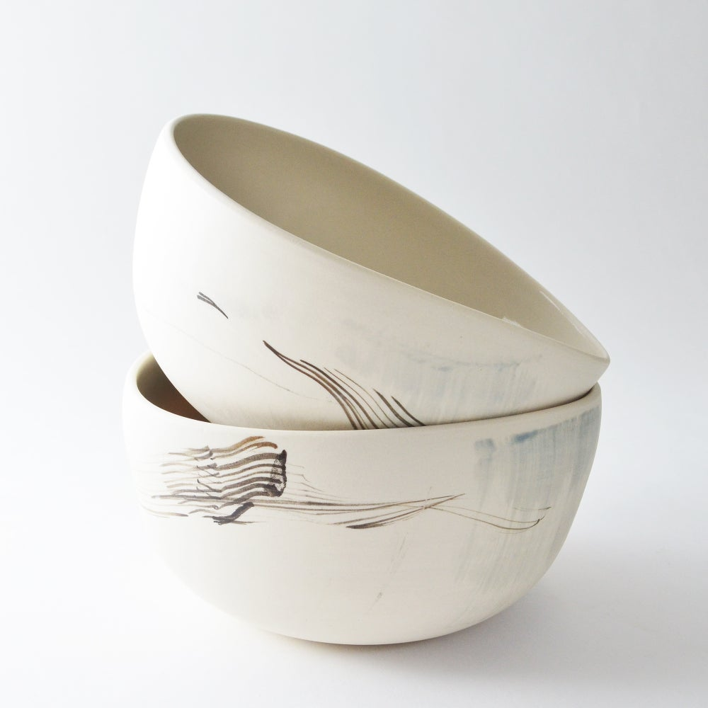 Image of eggshell altered bowl