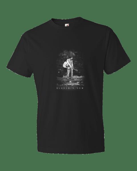 Image of Men's black t-shirt with Blake Nix Image