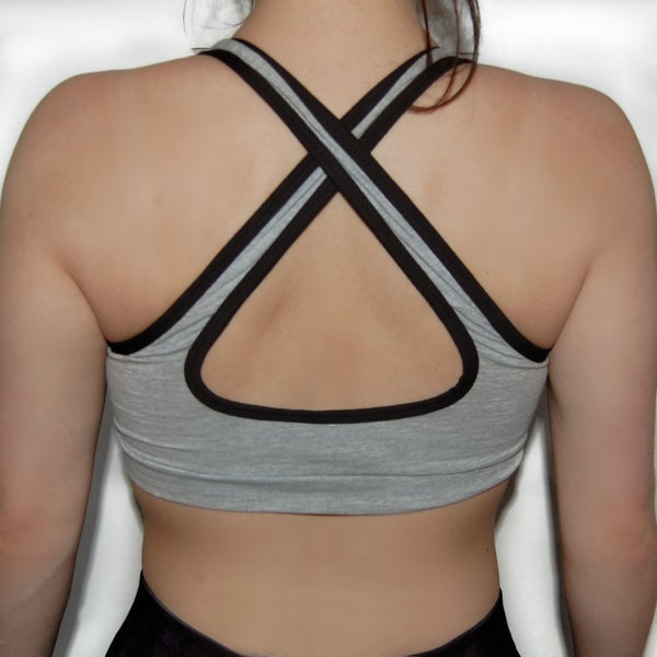 Aphrodite - Sportsbra Grey - Elite Fitness Apparel