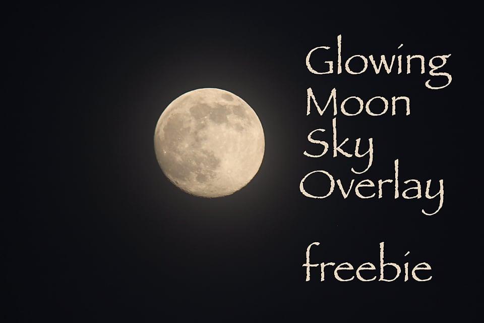 Image of Glowing Moon Sky Overlay FREEBIE