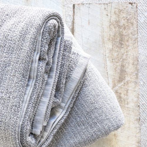 Image of Grey Tweed Cotton Towel