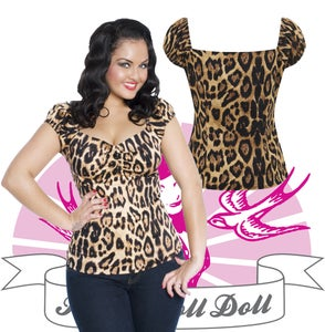 Image of Collectif Dolores topp Leopard