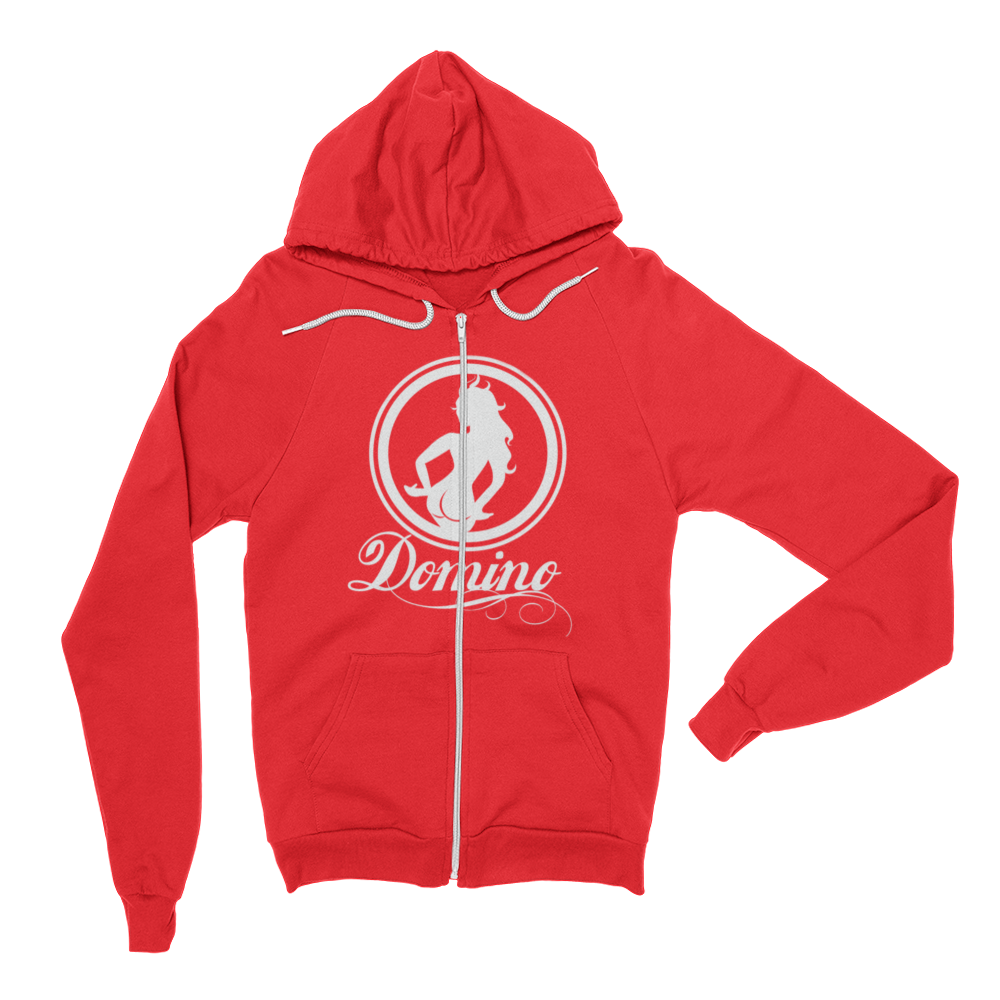 Image of RED ZIP-UP DOMINO HOODIE