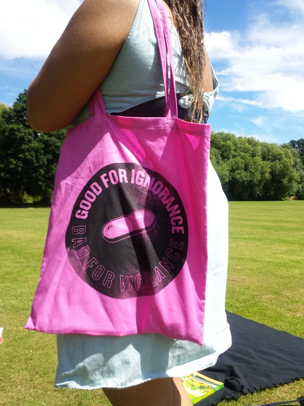 Pink 'KANEDA!!' Tote Bag - Moore Vigilance