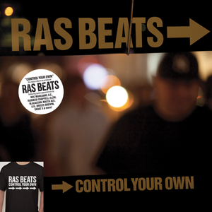 Image of RAS BEATS - CONTROL YOUR OWN LIMITED ORANGE VINYL & T-SHIRT BUNDLE.
