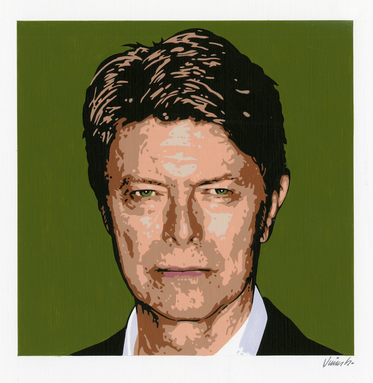 Image of DAVID BOWIE No. 6 acrylic painting