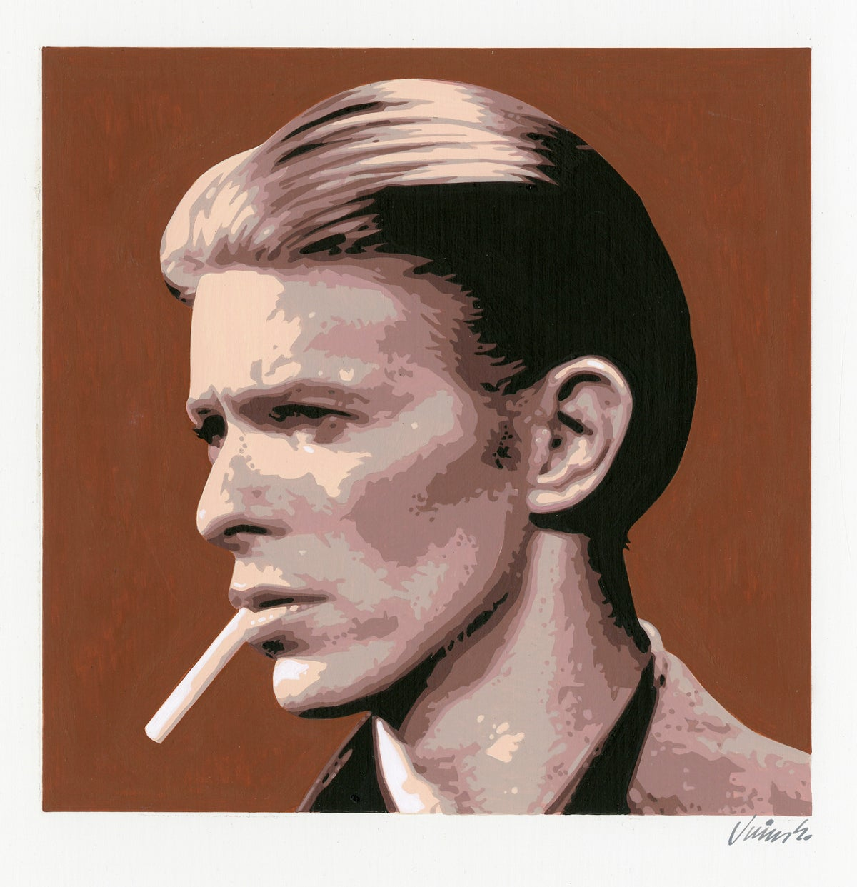 Image of DAVID BOWIE No. 3 acrylic painting