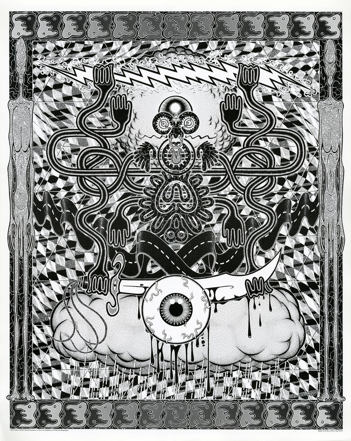 Image of EYE/I KILL I/EYE litho print