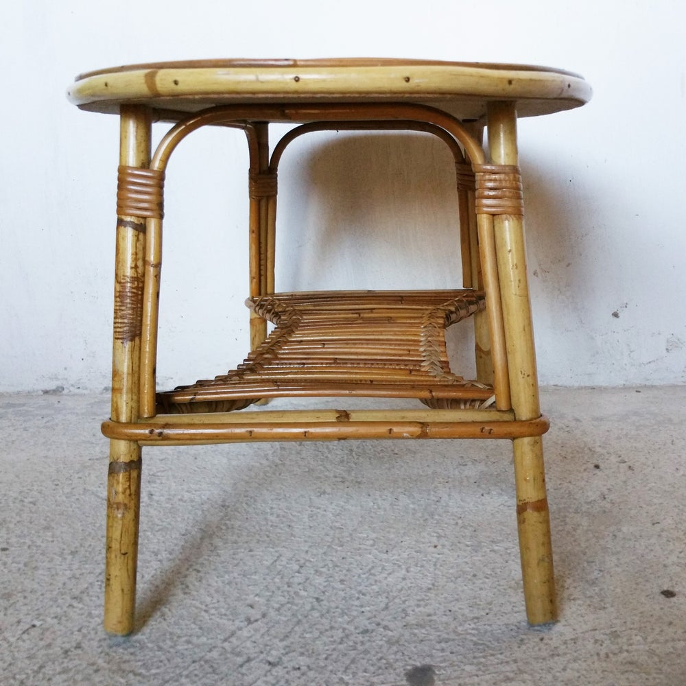 Image of Table basse en rotin