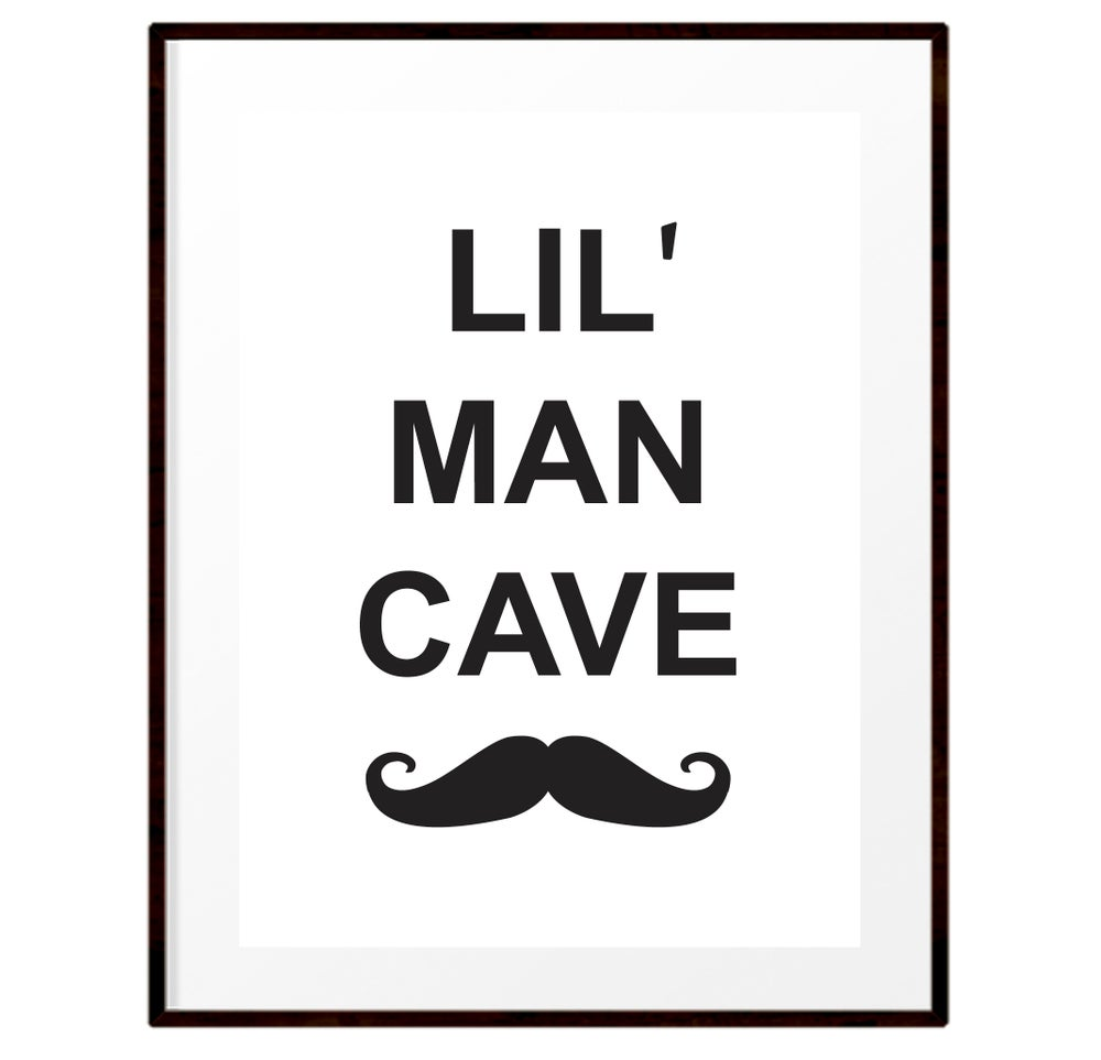 Image of Lil' Man Cave print