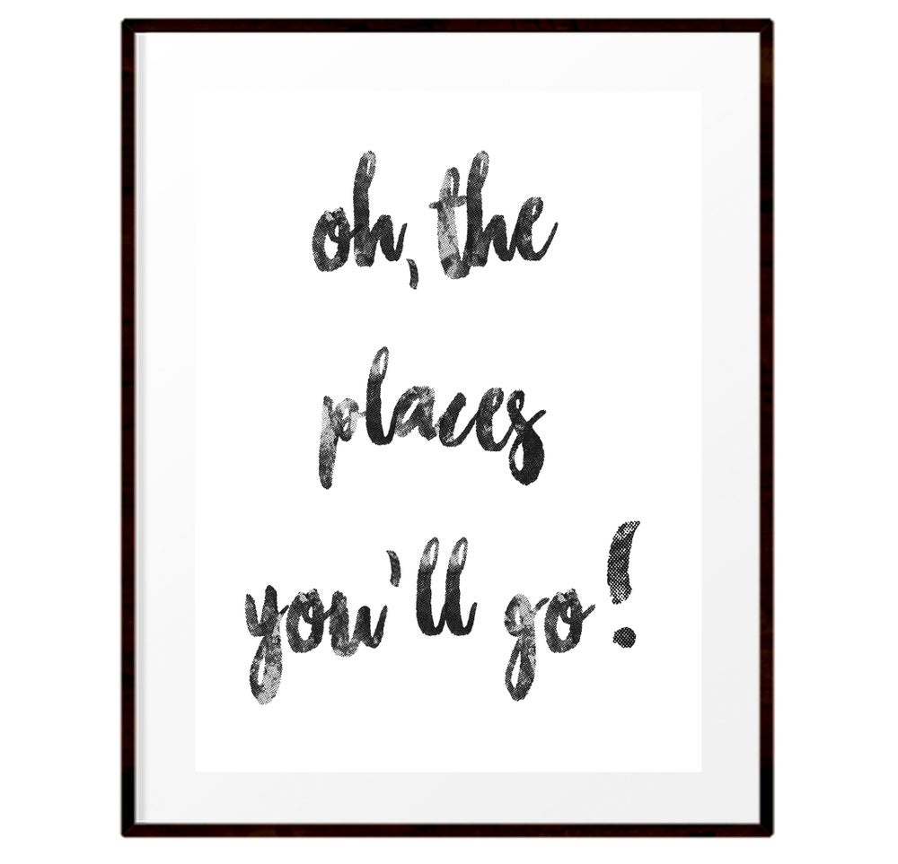 Image of Oh the places you'll go print