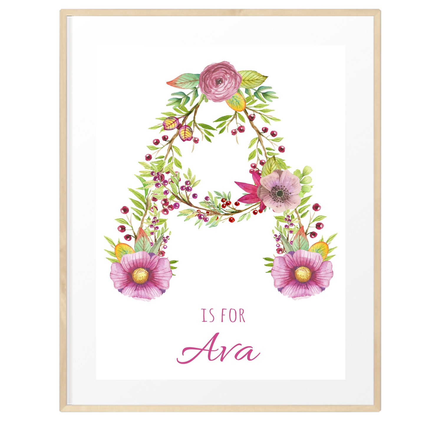 Image of Personalised Floral Initials