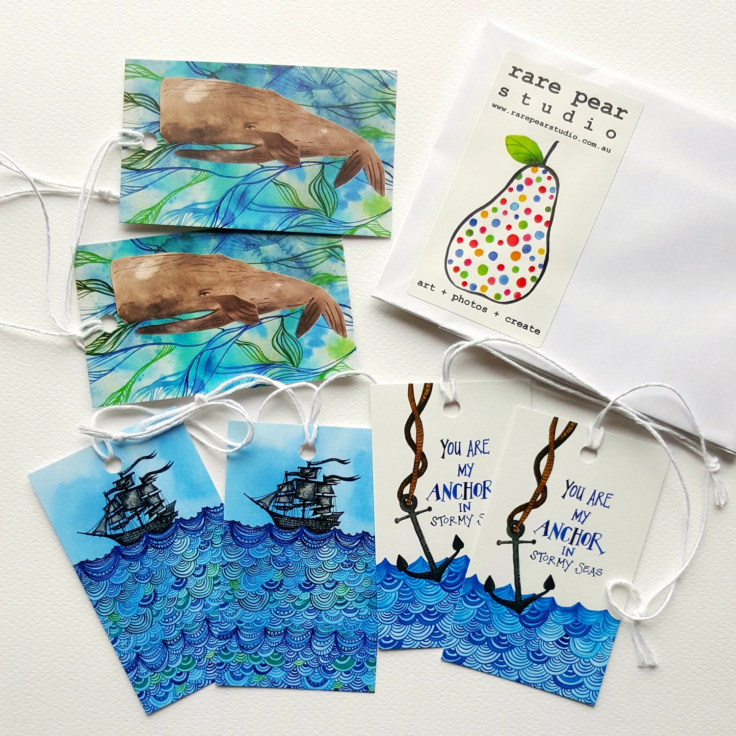 Image of nicely nautical GIFT TAG SET