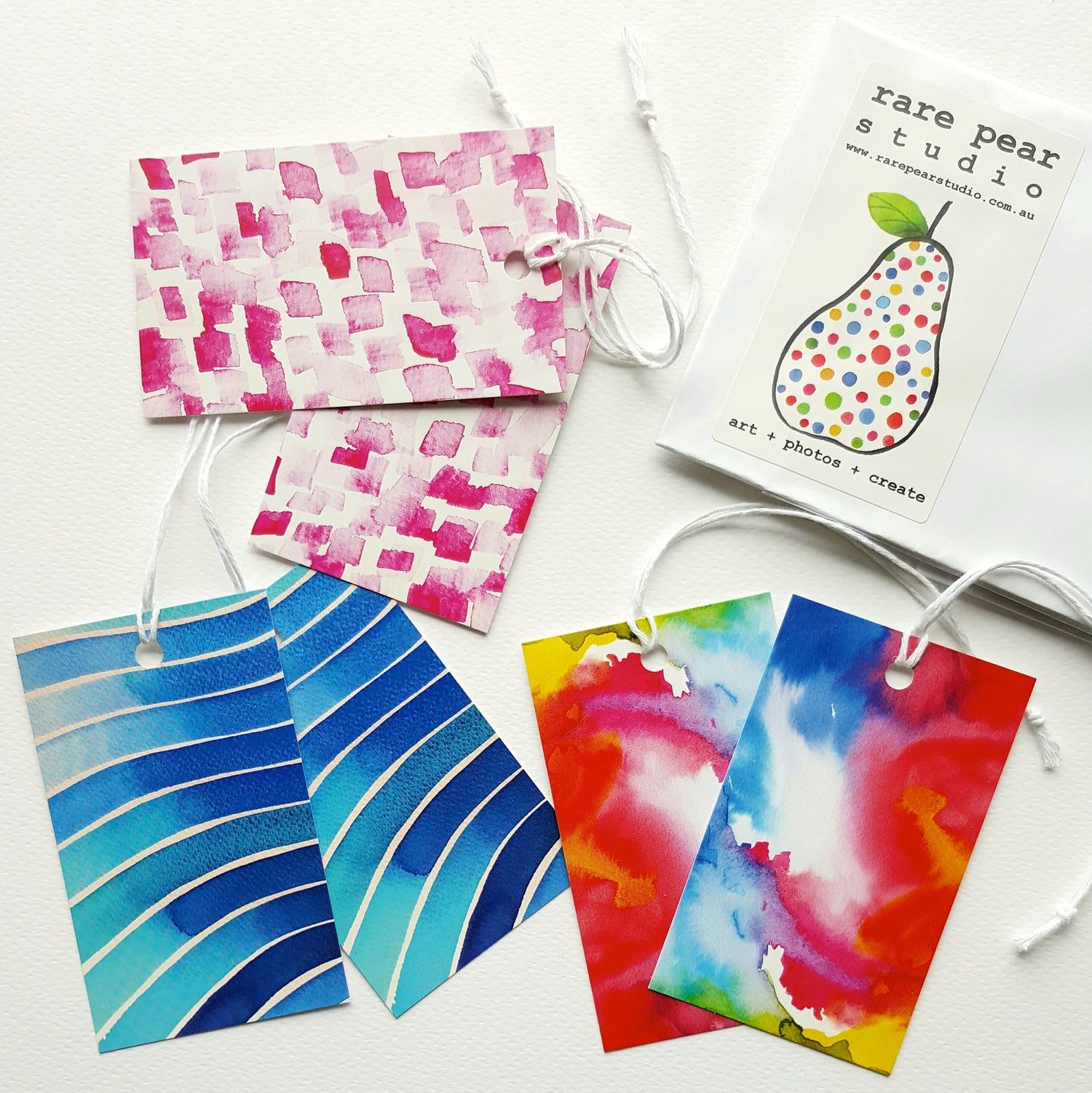 Image of happy colours GIFT TAG SET