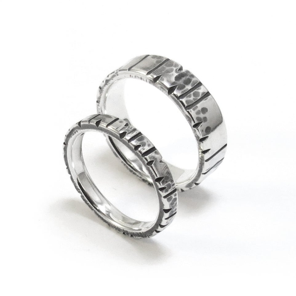 Image of Date Notched Rings