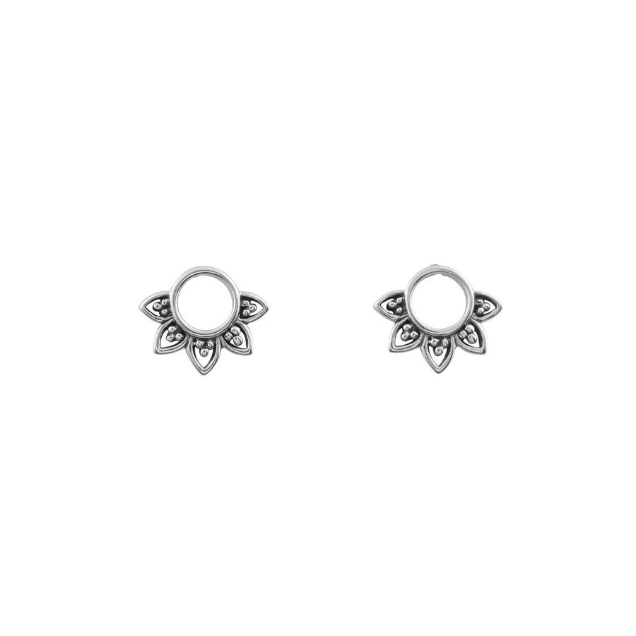 Image of Sterling Silver Rising Sun Studs
