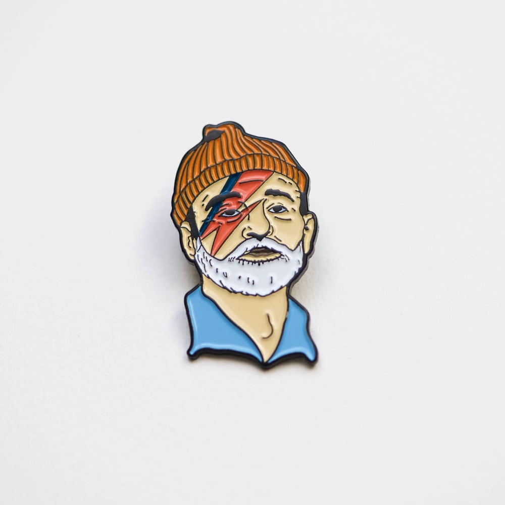 Image of Bill Murray / Zissou pin