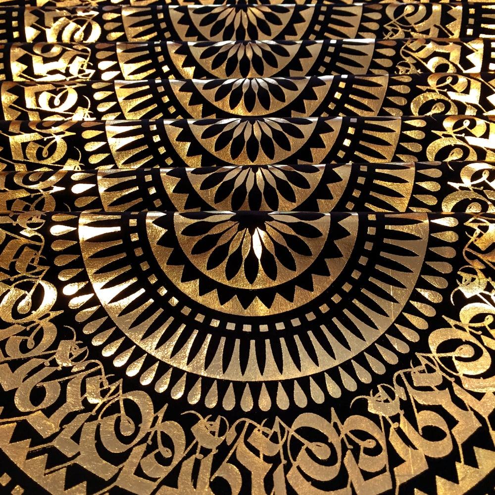 Image of GOLD FOIL BANDANA