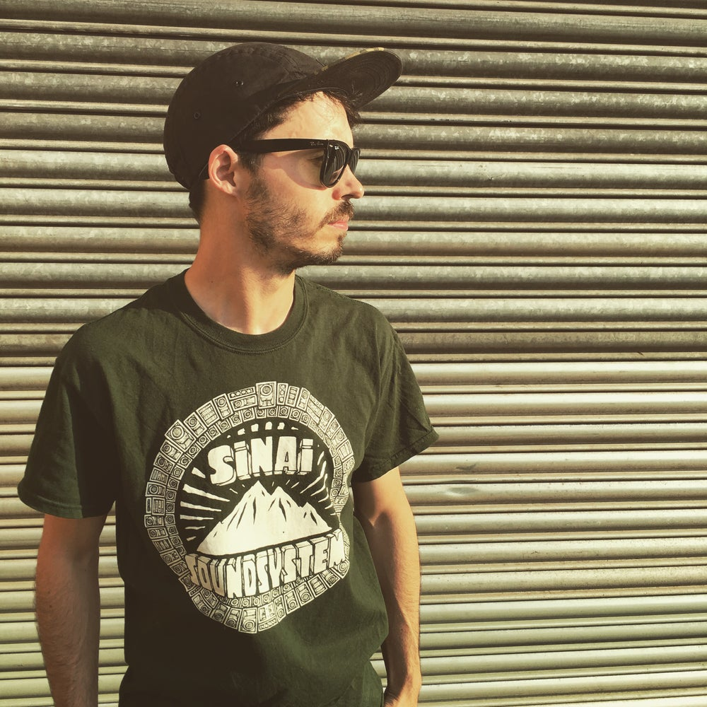 Image of Sinai Sound x Tribes T-Shirt - Dark Green