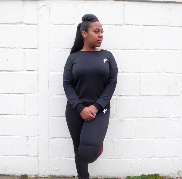 Womens Scuba Mesh Tracksuit Bottoms (Black) - Moore Vigilance
