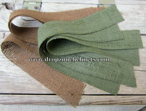 Image of M1 Helmet burlap Camo Scrim. Original US GI surplus.