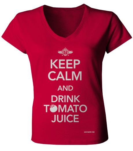 Image of Keep Calm and Drink Tomato Juice (female)
