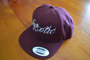 Image of Flexfit Flat Peak Snapback Cap (Burgandy)