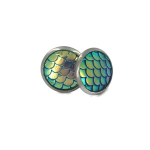Image of Dragon / Mermaid Scales Earrings - Options Available