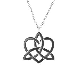 Image of Triquetra Heart Charmed Necklace