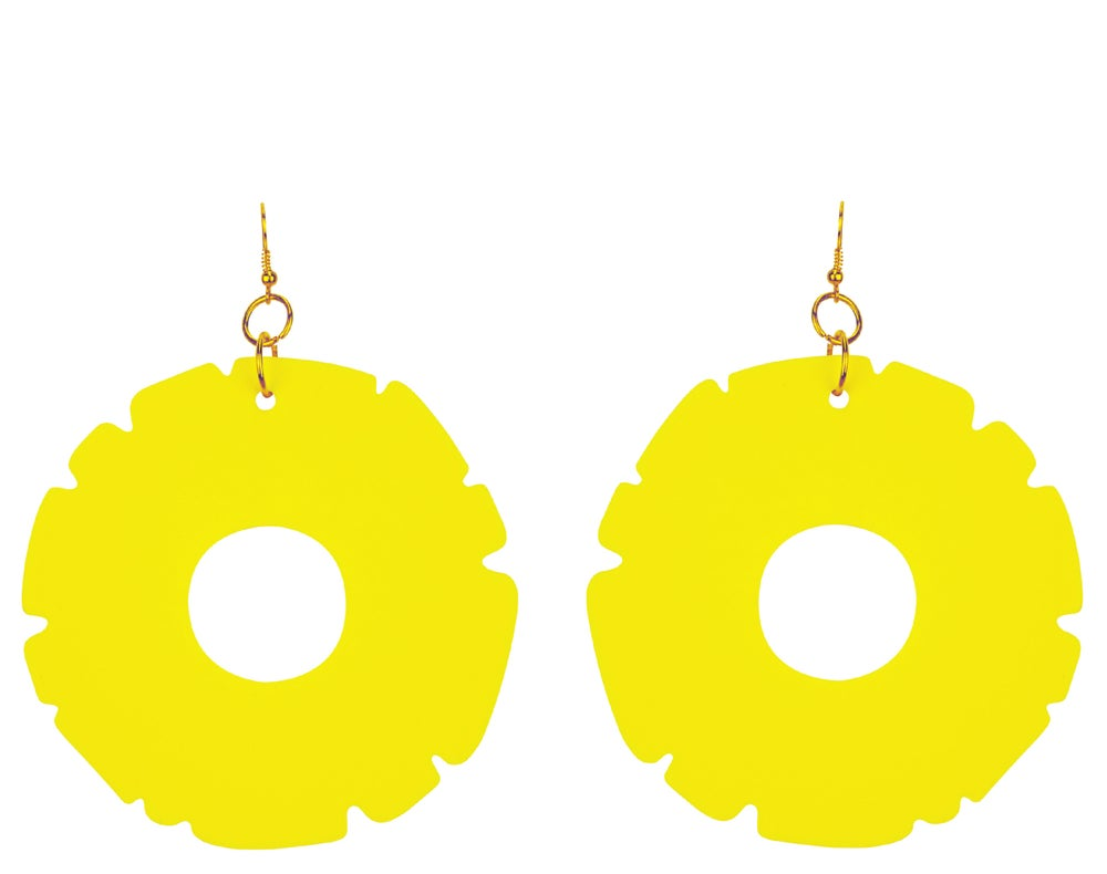 Image of Pineapple Ring Earrings
