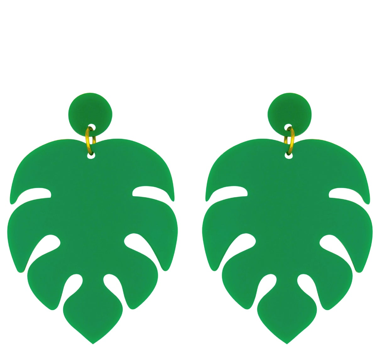 Image of Monstera Swiss Cheese Plant Earrings