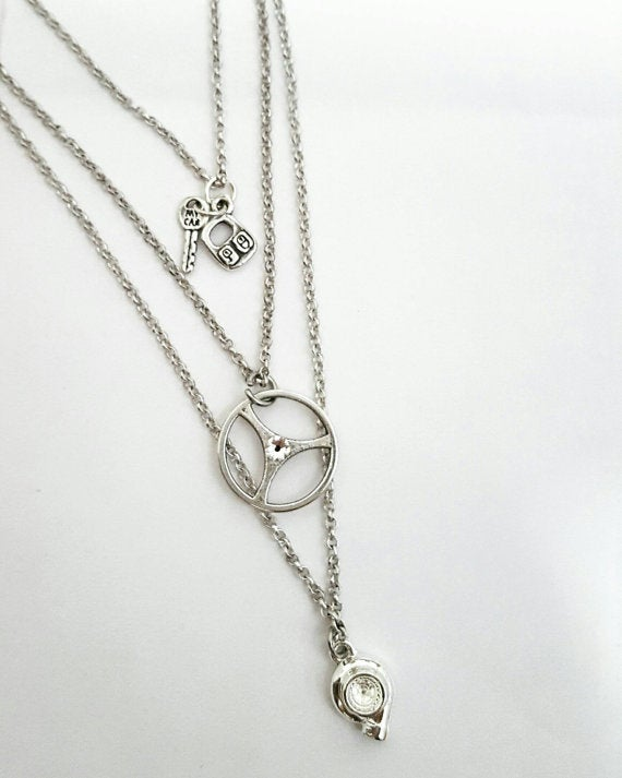 Image of Layered Car Part Necklaces
