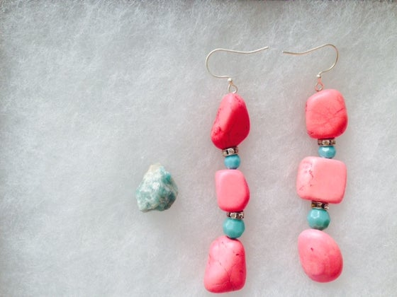 Image of Turquoise Native Inspired Pink Stone