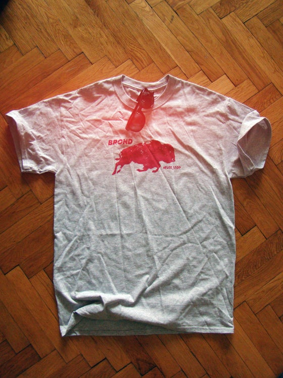 Image of NEVER STOP | RED BISON TEE : boys
