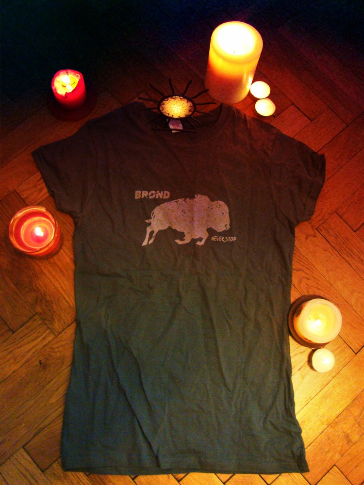 Image of NEVER STOP | BISON TEE : girls