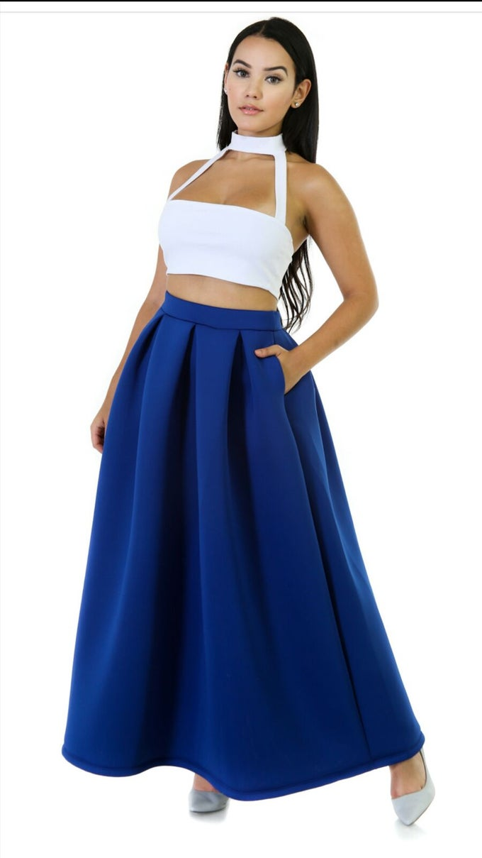 Image of Form puffy maxi skirt