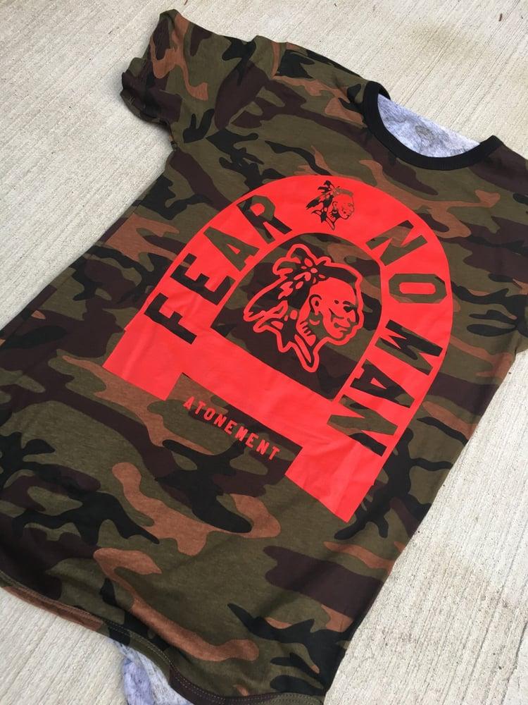 "Image of The ""Fear No Man "" Camo Scallop Tee"