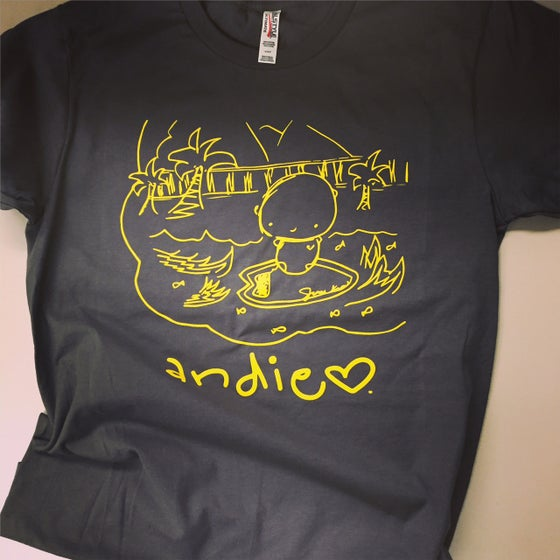 Image of ANDIE + dog tag: you're it dog rescue ADULT/CHARCOAL t-shirt (yellow design)